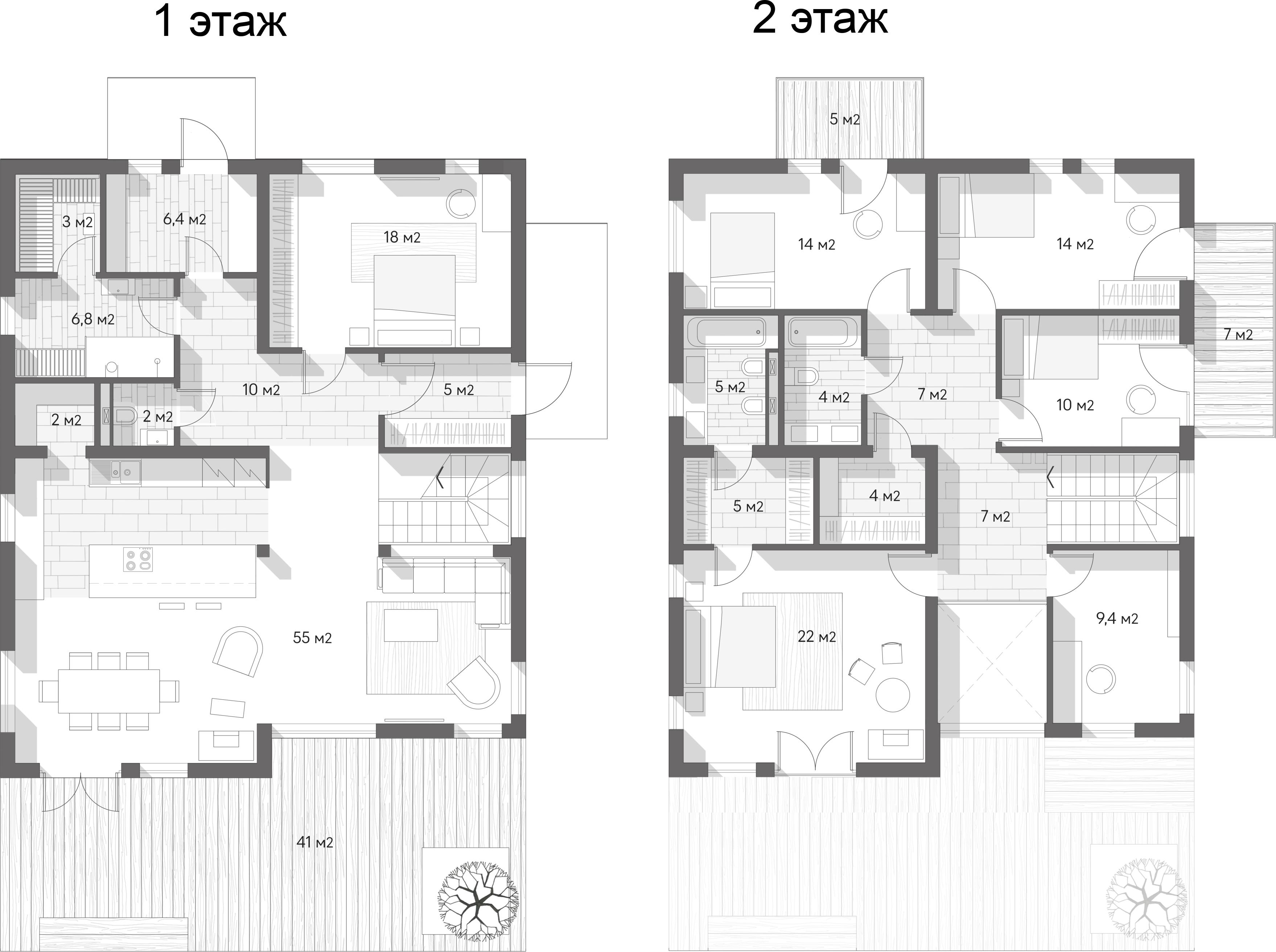Коттеджи, 262.6 м²