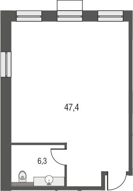 Своб. план., 53.7 м²