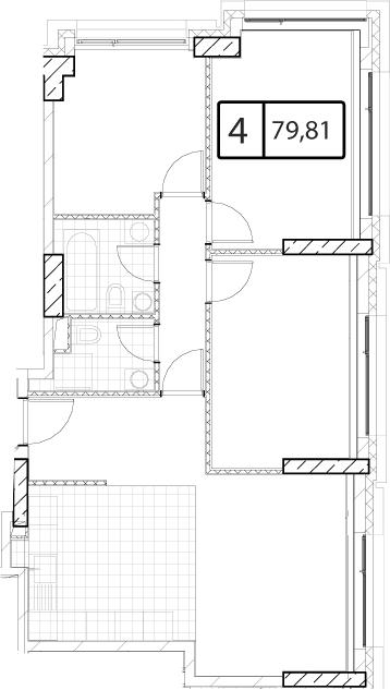 Своб. план., 79.81 м²