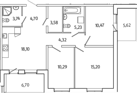 4Е-к.кв, 81.79 м²