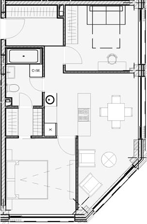 Свободная планировка, 55.09 м²– 2