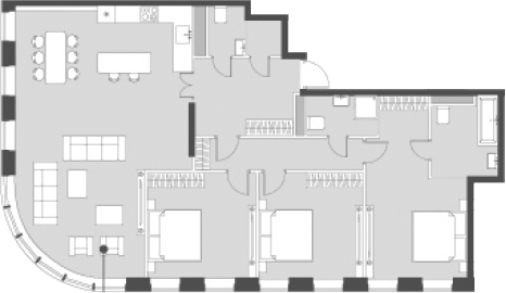Свободная планировка, 118.7 м²– 2
