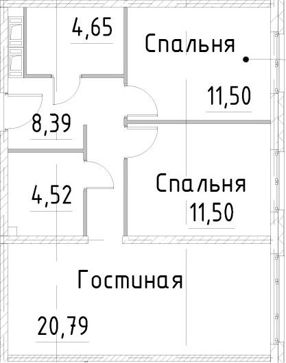 3Е-к.кв, 61.34 м², от 18 этажа