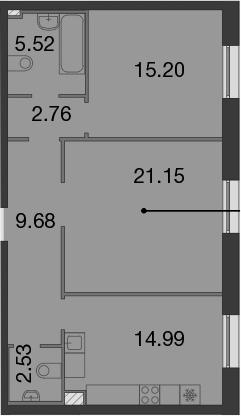 2-к.кв, 71.83 м²