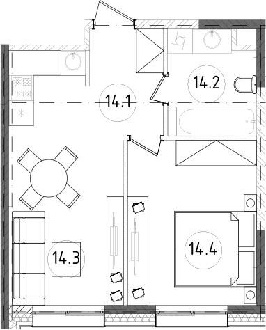 2Е-к.кв, 37.48 м²