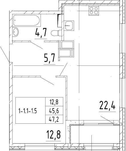 2Е-к.кв, 47.2 м²