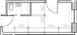 Студия, 15.85 м², 4 этаж – Планировка