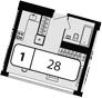Своб. план., 28 м²