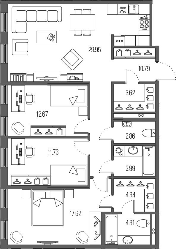 4-к.кв (евро), 101.88 м²