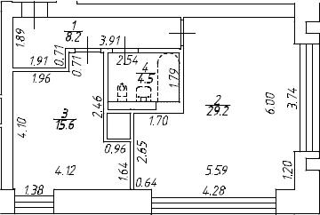 2Е-к.кв, 51.6 м², 8 этаж