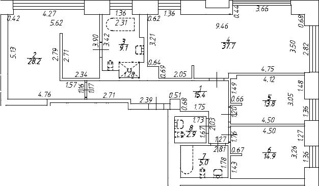 4Е-к.кв, 127 м², 7 этаж