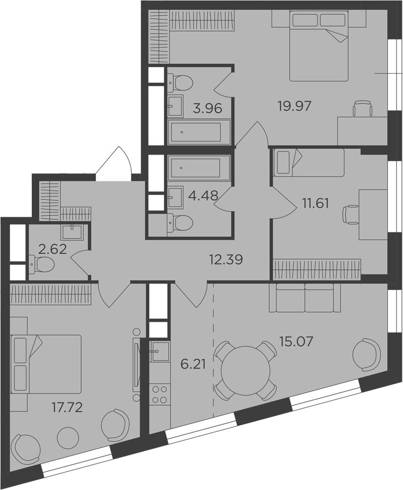 4Е-к.кв, 94.03 м²