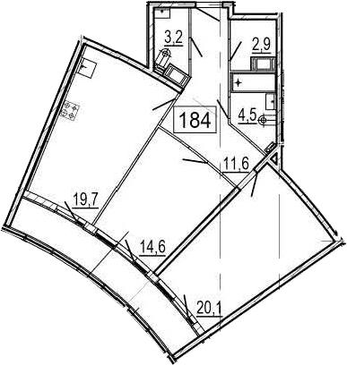3Е-к.кв, 81.8 м², 10 этаж