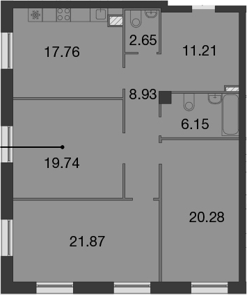 4-к.кв (евро), 108.59 м²