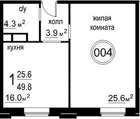 2-к.кв (евро), 49.8 м²