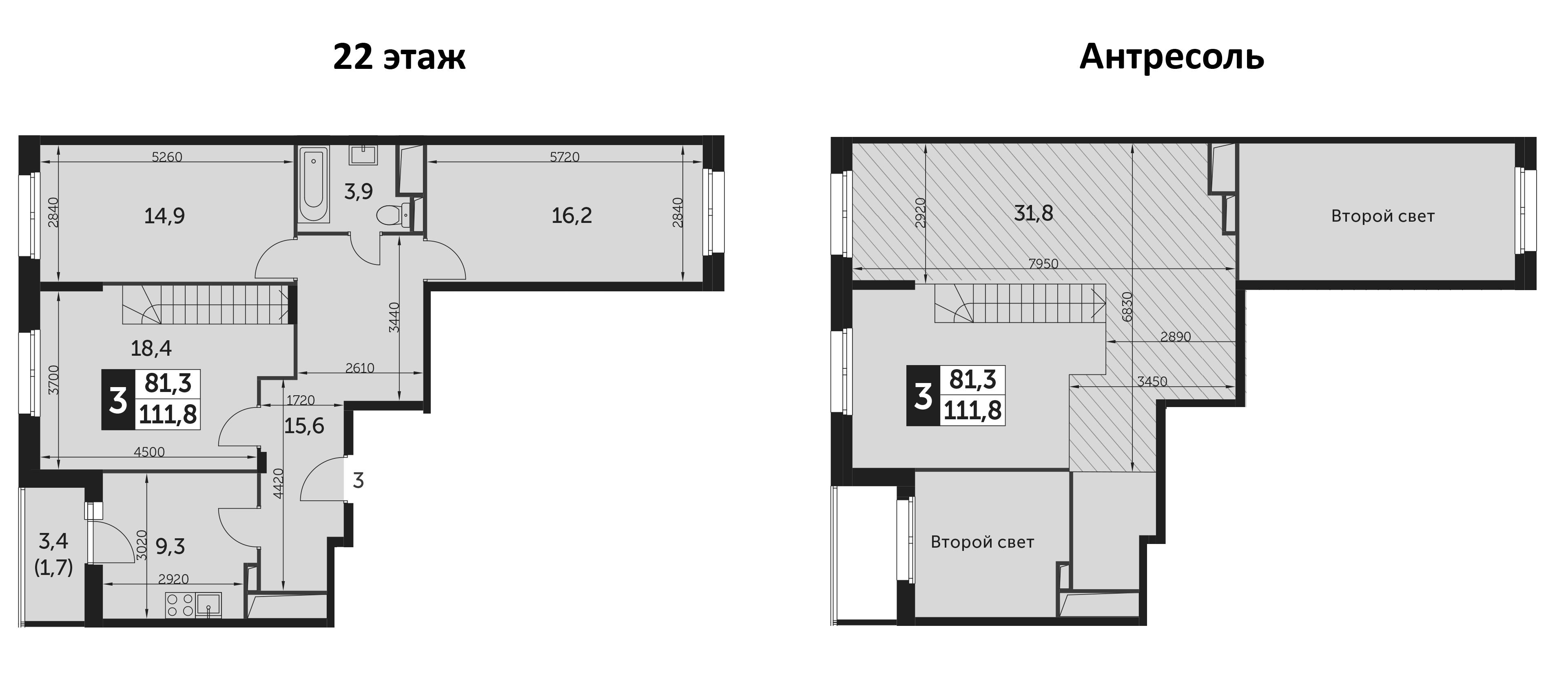 3-к.кв, 111.8 м²