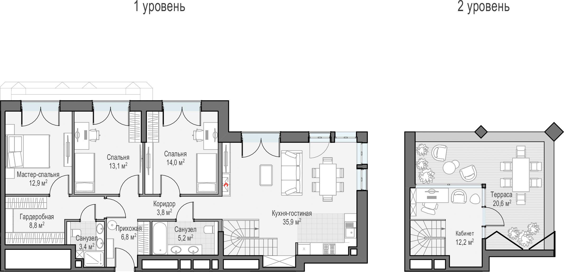 5Е-комнатная, 122.71 м²– 2