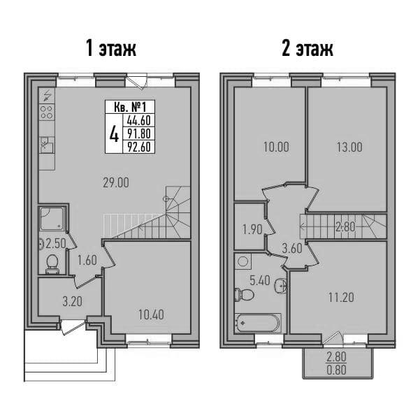 4-к.кв, 94.47 м²