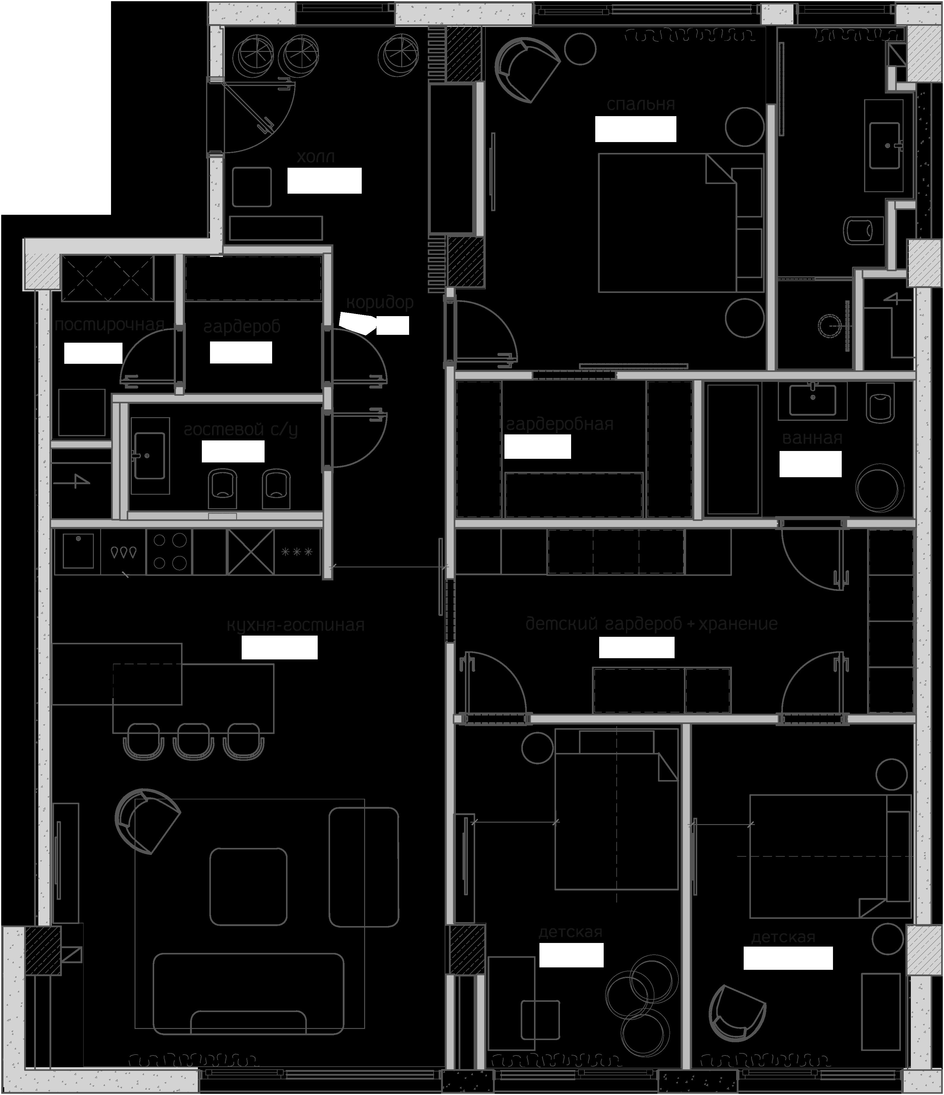 Свободная планировка, 146 м²– 2