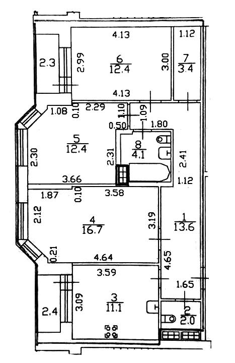 3-к.кв, 80.4 м²