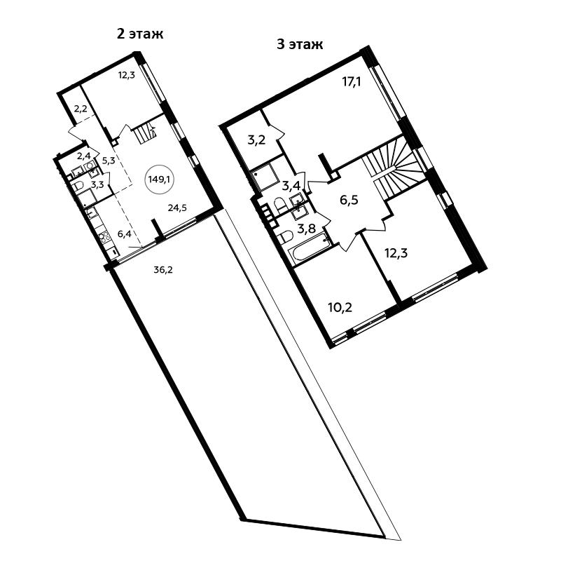 5Е-комнатная, 149.1 м²– 2