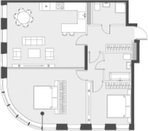 Свободная планировка, 82.5 м²– 2