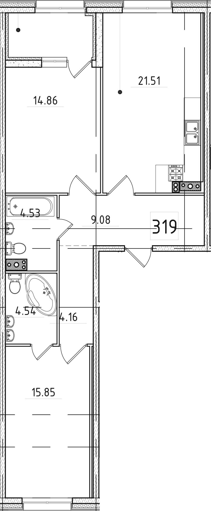 3-к.кв (евро), 79.31 м²