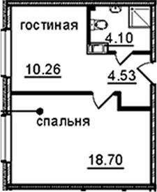 1-к.кв, 37.59 м², от 8 этажа