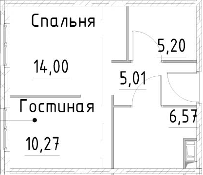 2Е-к.кв, 41.04 м²