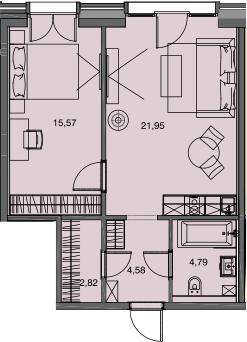 2-к.кв (евро), 49.71 м²