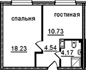 1-к.кв, 37.67 м², 8 этаж
