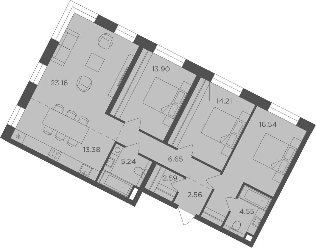 4Е-к.кв, 102.78 м², 12 этаж