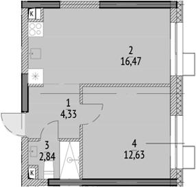 2Е-к.кв, 36.27 м²