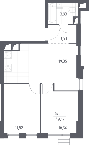 3Е-к.кв, 49.19 м², от 13 этажа