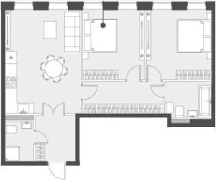 Свободная планировка, 68.9 м²– 2