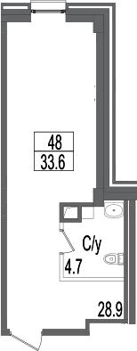 Своб. план., 33.6 м²