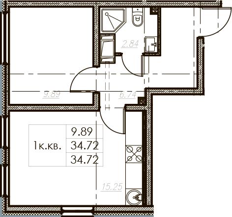 2Е-к.кв, 34.72 м²