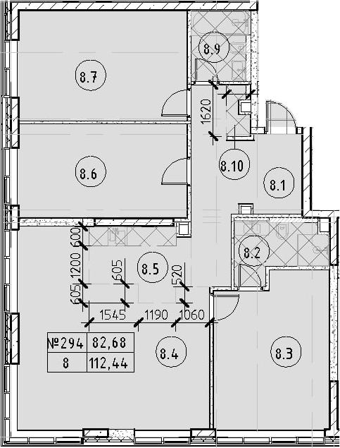 4Е-к.кв, 112.44 м²