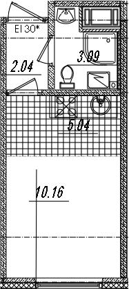Студия, 20.33 м²– 2