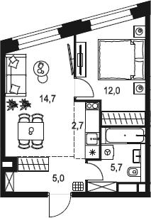 2Е-к.кв, 40.1 м²