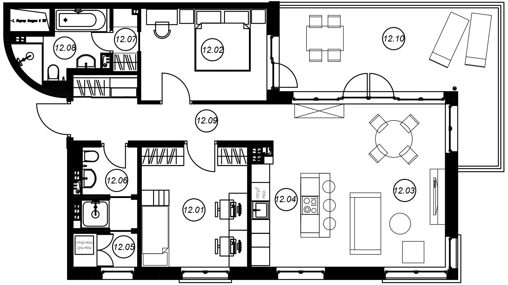 3Е-к.кв, 81.73 м²