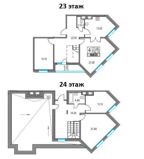 4-к.кв, 136.38 м²