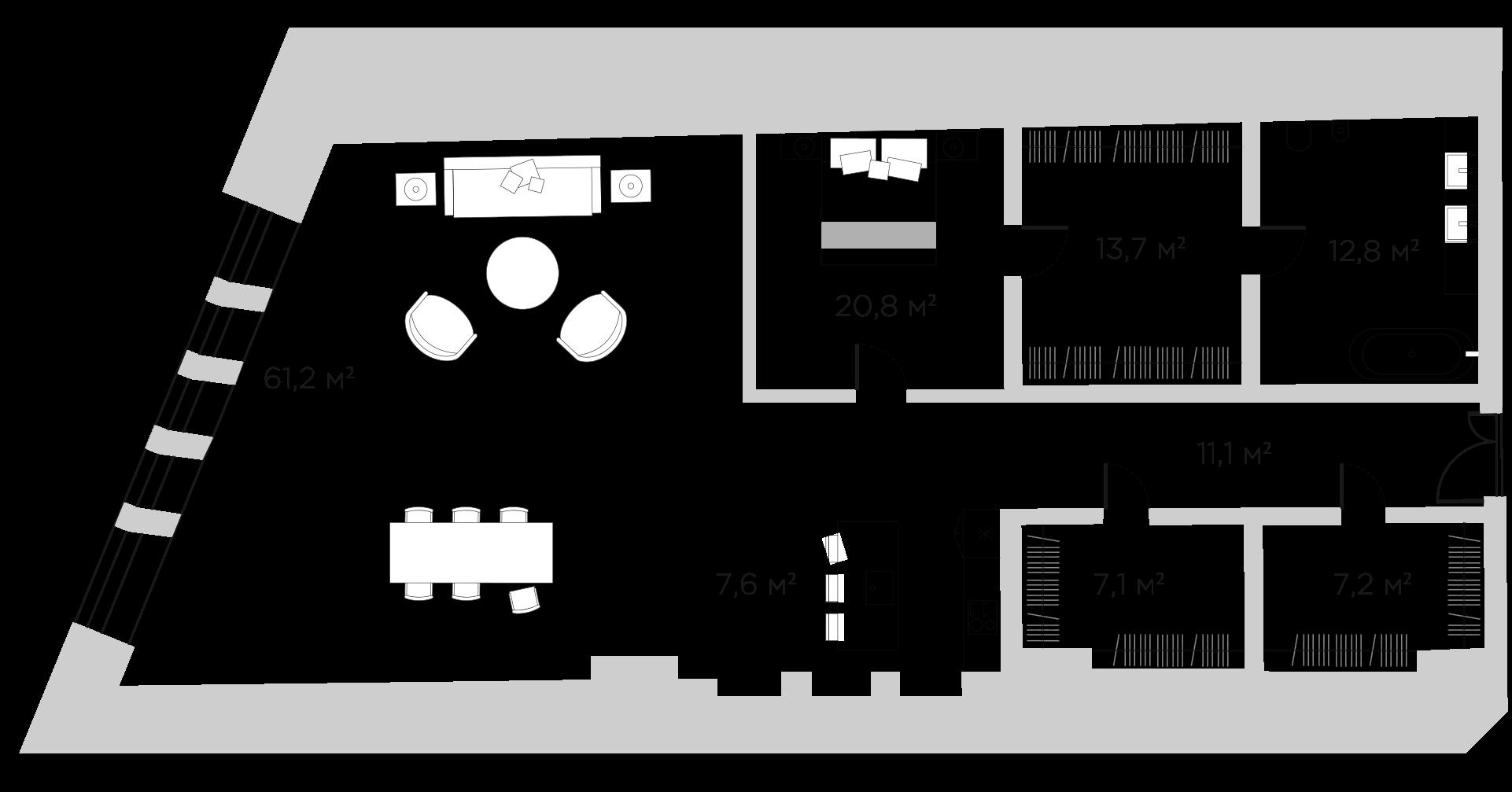 2Е-к.кв, 141.5 м²