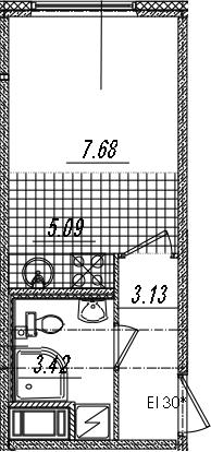 Студия, 19.32 м²