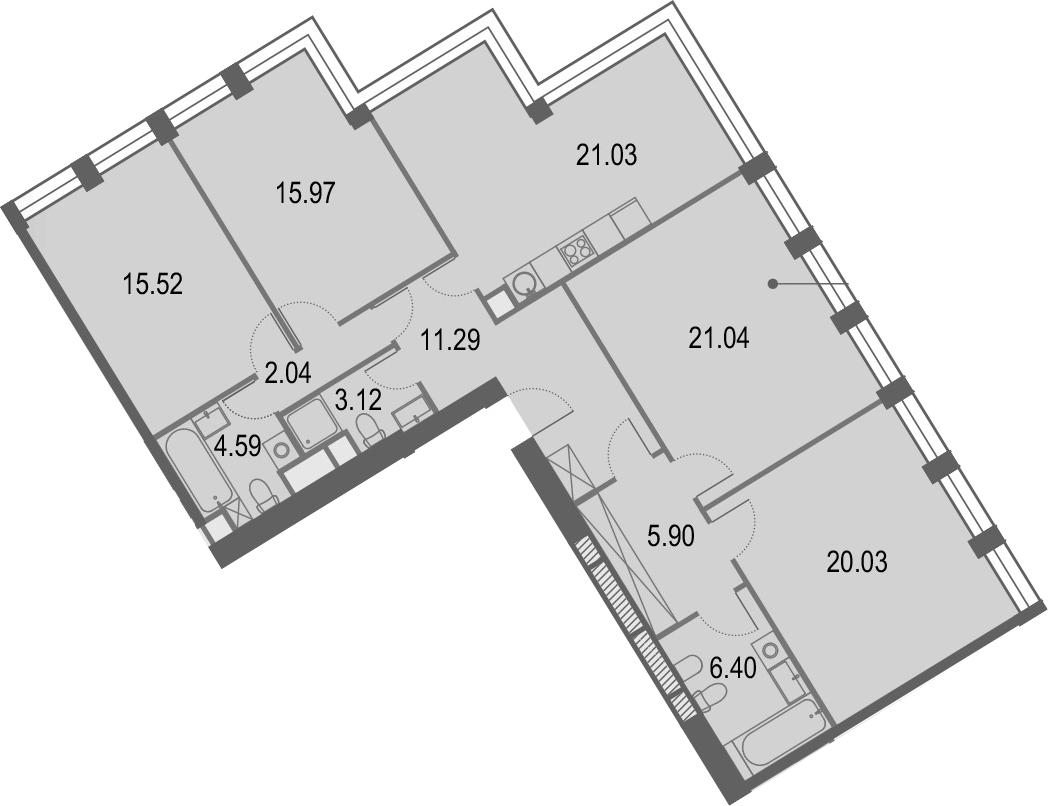 5Е-комнатная, 126.91 м²– 2