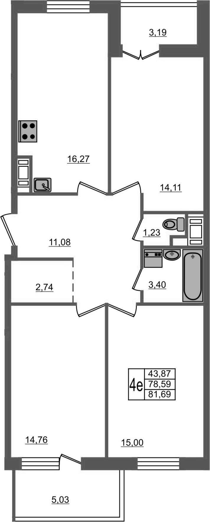 4-к.кв (евро), 86.8 м²