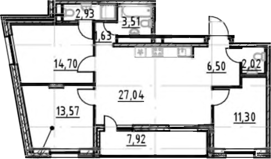4-к.кв (евро), 91.12 м²