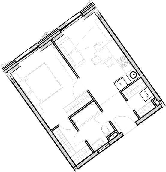 Свободная планировка, 38.7 м²– 2