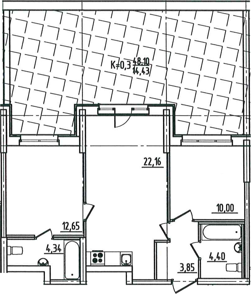 3-к.кв (евро), 105.5 м²