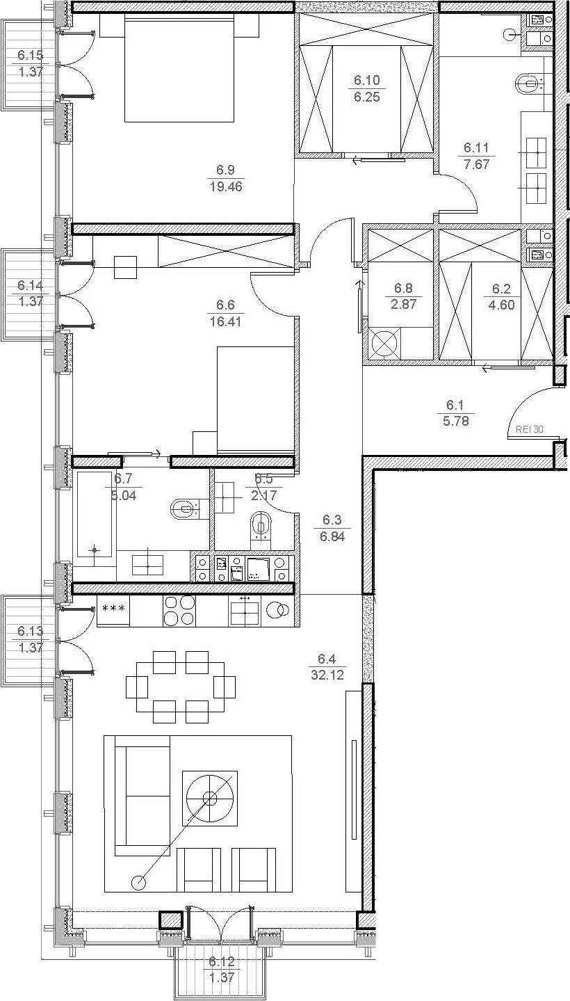 3Е-комнатная, 110.85 м²– 2